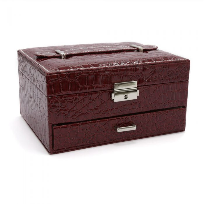 bordeaux-red-crocodile-pattern-jewellery-box-w-draw-1