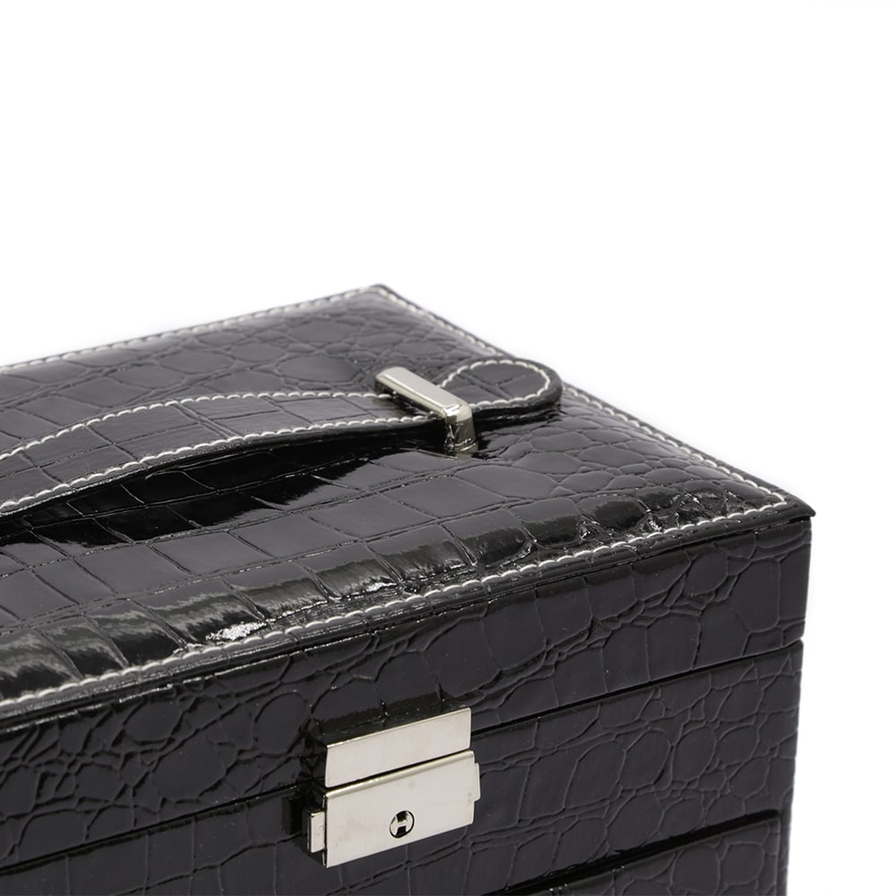 black-crocodile-pattern-jewellery-box-w-draw-4
