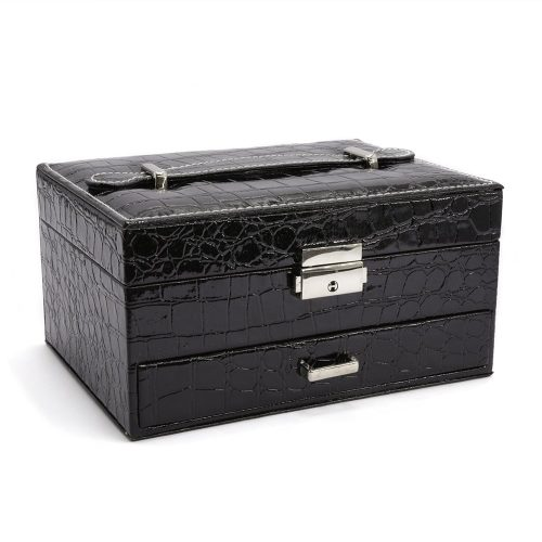 black-crocodile-pattern-jewellery-box-w-draw-1