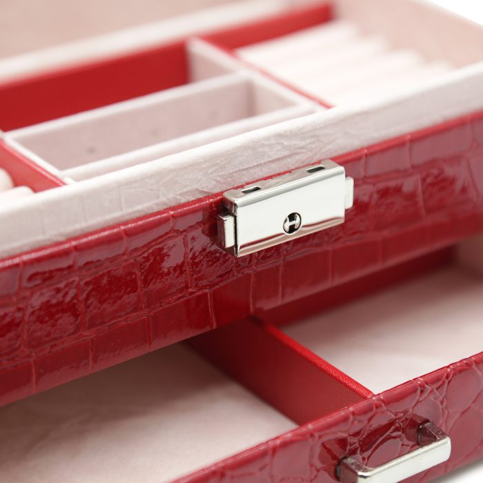 ruby-red-crocodile-pattern-jewellery-box-w-drawer-3