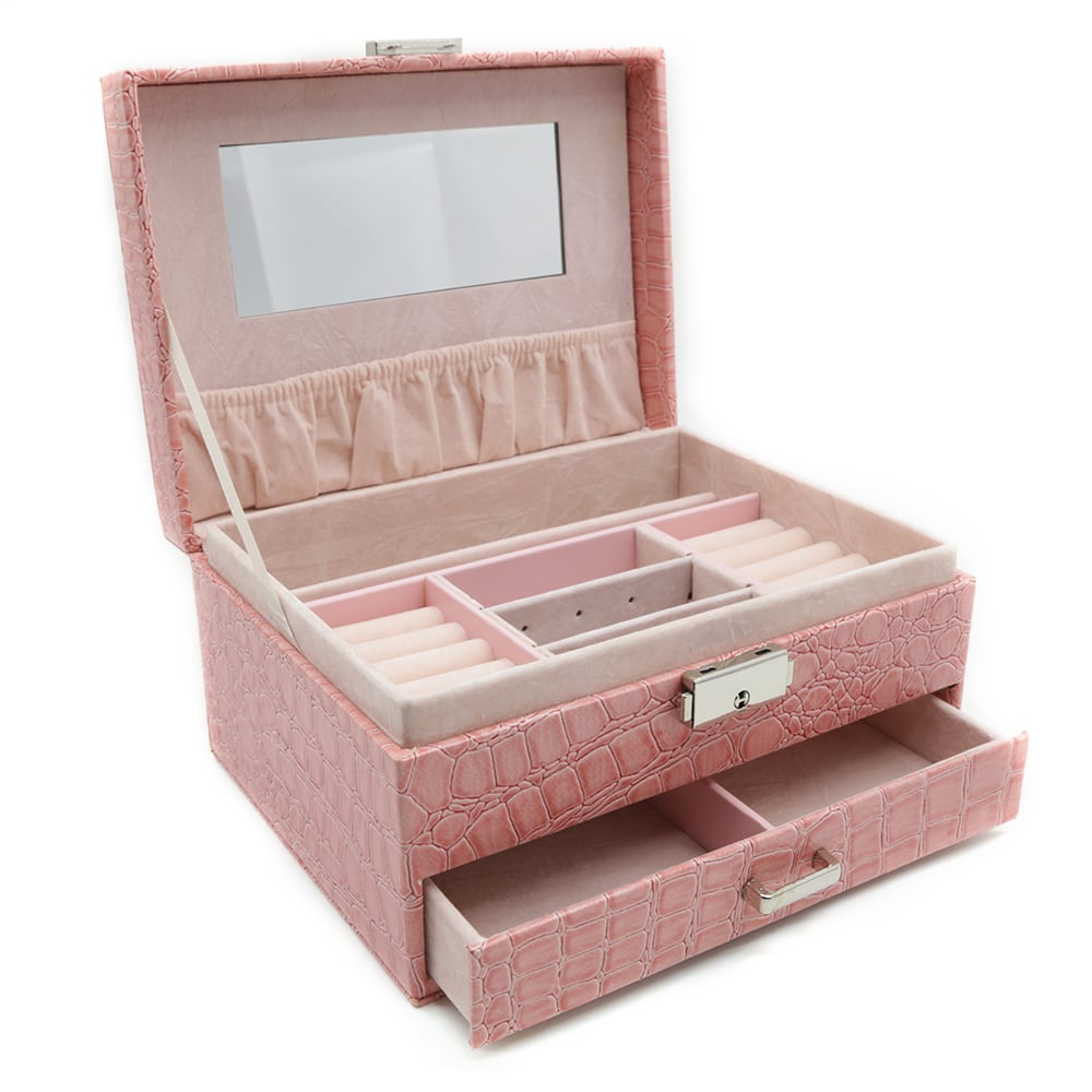 pink-crocodile-pattern-jewellery-box-w-drawer-2
