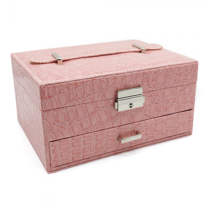 pink-crocodile-pattern-jewellery-box-w-drawer-1