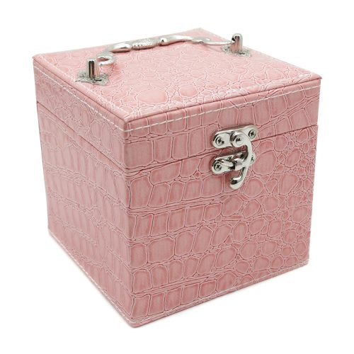 square-pink-polished-crocodile-travel-jewellery-box-1