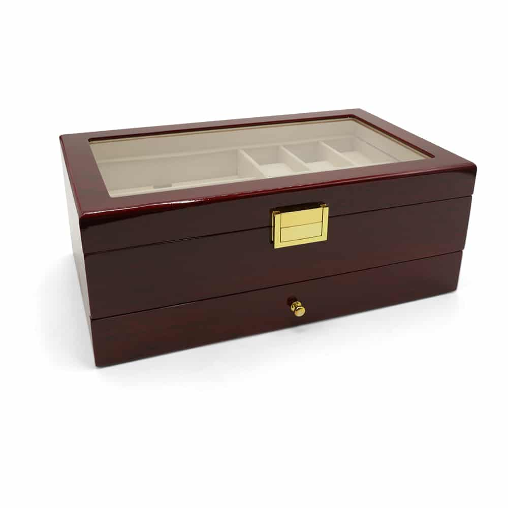 maple-mahogany-2-level-watch-box-organiser-1
